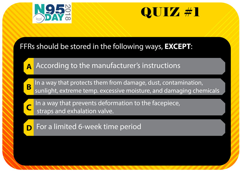 Quiz #1 Questioni - FFRs should be stored in the following ways, EXCEPT: