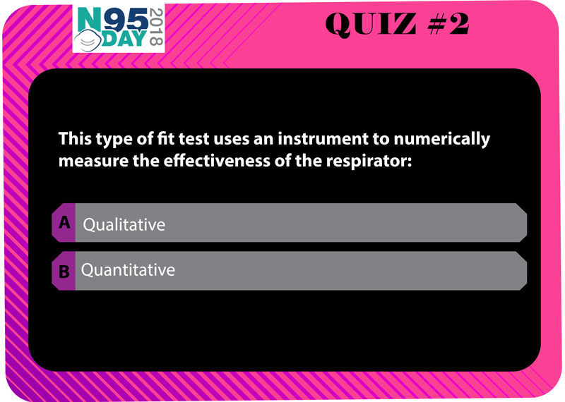 Quiz #2 Question - This type of fit test uses an instrument to numerically measure the effectiveness of the respirator: