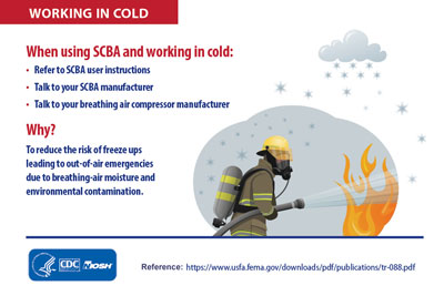 Infographic - WHEN WORKING IN COLD: When using SCBA and working in cold