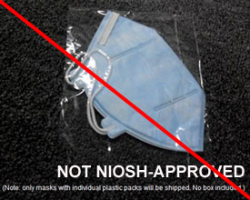 Earloop mask, not NIOSH-approved