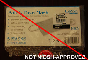 Filtering facepiece, not NIOSH-approved
