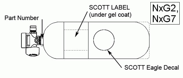 Scott Label (under Gel-Coat) NxG2 NxG7 SCOTT Eagle Decal