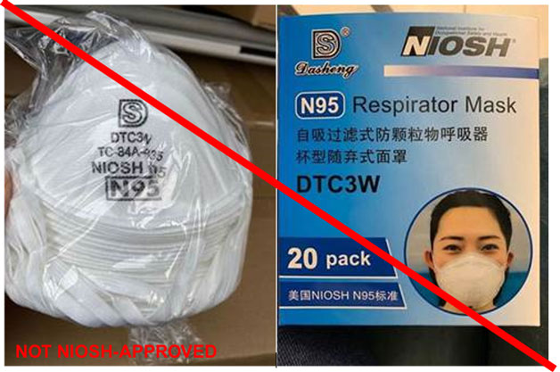 Respirator DTC3W (marked as TC-84A-4335)