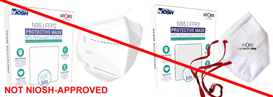 SS Paper Convertors is misrepresenting protective masks as NIOSH-approved.  SS Paper Convertors is not a NIOSH approval holder or private label holder.  La' Forte brand masks are not NIOSH-approved.