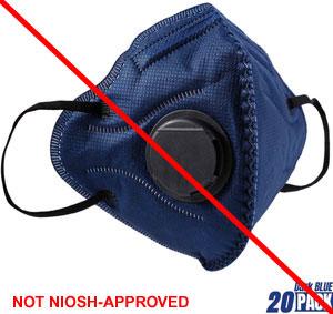 Blue respirator - Not NIOSH-Approved