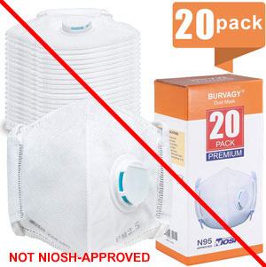 Burvagy respirator masks for kids - Not NIOSH-Approved