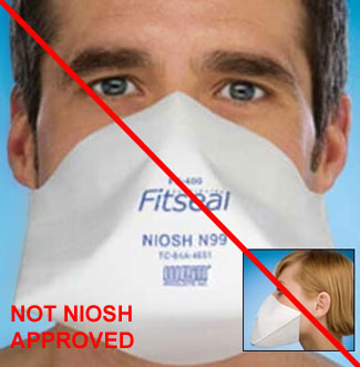 Example or respirator that is not NIOSH-approved