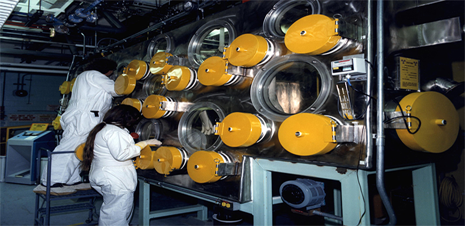 Plutonium Glove-Box line (Department of Energy Image Archive)