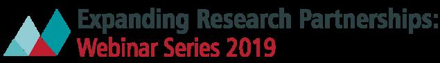 Expanding Research Partnerships Webinar Series logo 2019