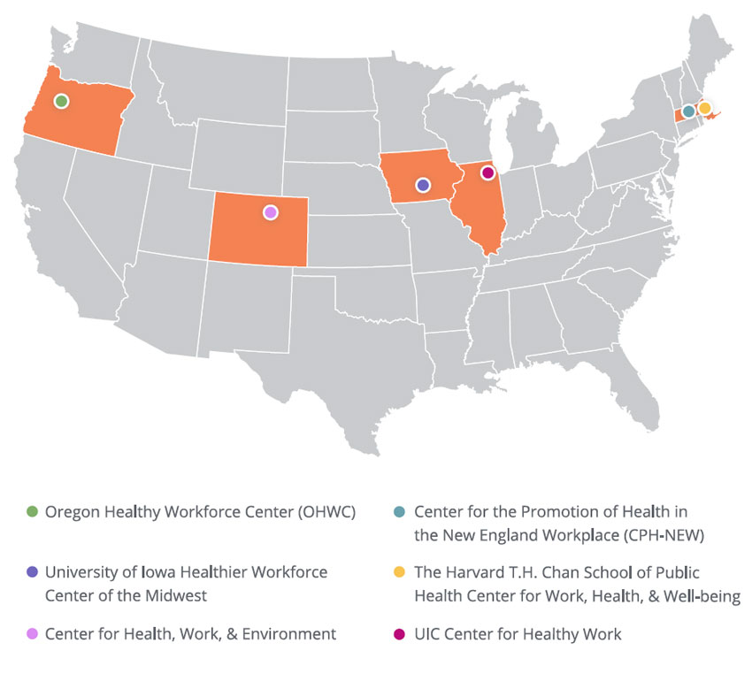 Centers of Excellence for Total Worker Health, 2018