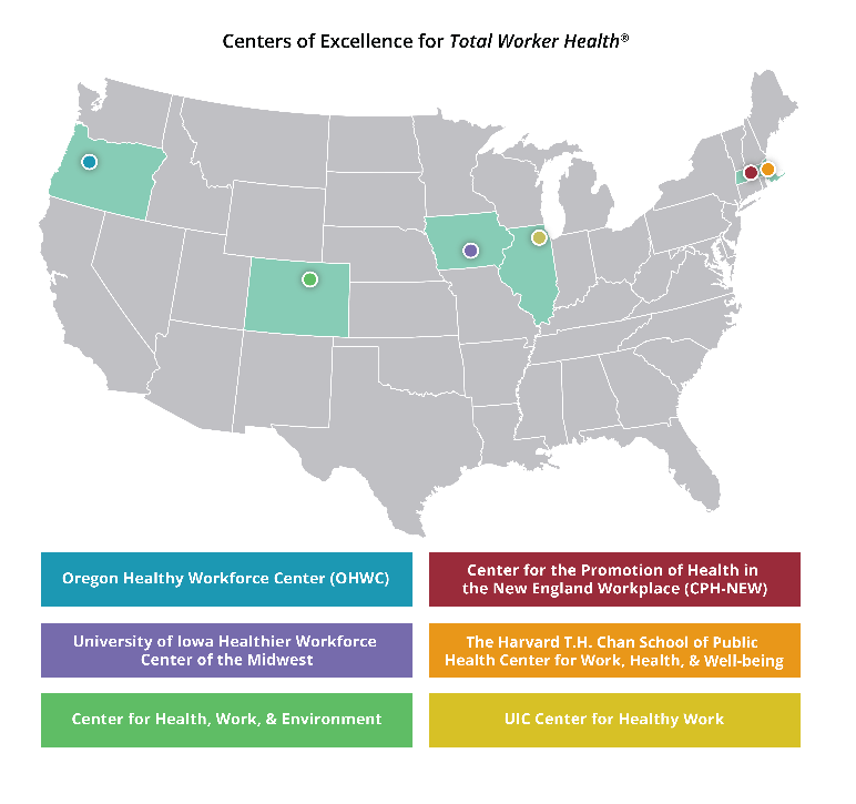 USA Map of TWH Centers of excellence