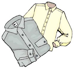 Illustration of shirts