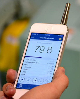 Sound Level Meter App on Mobile Device