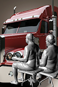 Truck driver anthropometry data for safer semi-trailer truck designs are available online