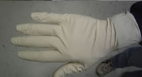 Latex glove for skin protection