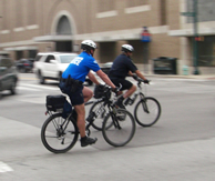 Bike-mounted police officers
