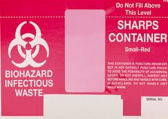 sharps container label