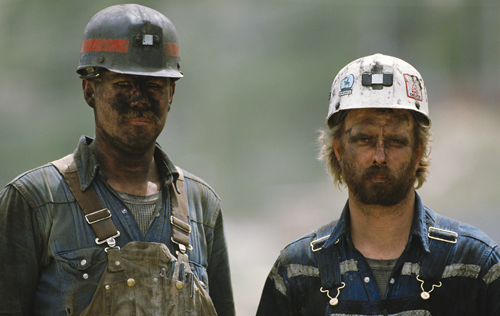 Two Coal Miners with dust on them