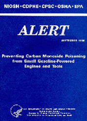Alert cover page for Carbon Monoxide