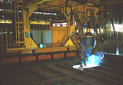 robotic welder in use