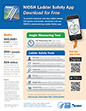 cover of NIOSH doc 2017-129 NIOSH Ladder Safety App Infographic