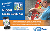 cover of NIOSH doc 2017-130 NIOSH Ladder Safety App Postcard