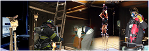collage of images from human factors lab at NIOSH