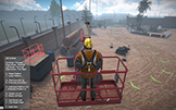 NIOSH Lift Simulator boom lift scenario screen