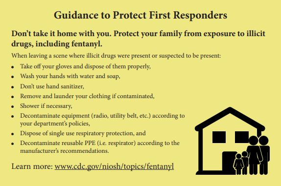 Postcard back side, Guidance to Protect First Responders