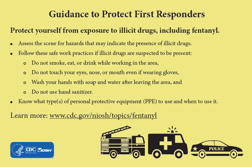 Postcard Front Side, Guidance to Protect First Responders