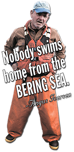 Nobody swims home from the Bering Sea -- Angus Iversen