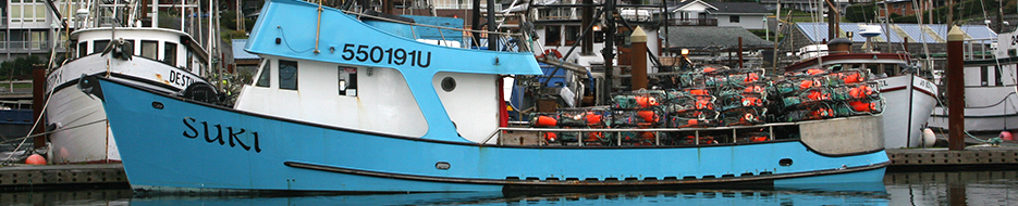 Fishing vessel, Suki dockside at Newport, OR