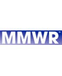 MMWR Logo, white text on a blue field.