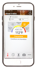 IPhone viewed from the front showing the main page of the OSHA NIOSH Heat Safety tool. The display reads