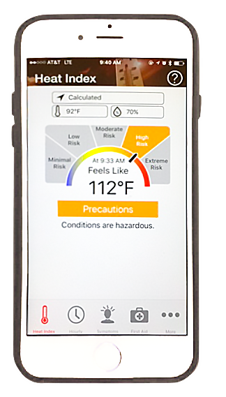OSHA-NIOSH Heat Safety Tool App screenshot