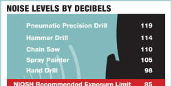 Noise Level By Decibles Infographic Icon