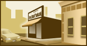 store front small business resources logo