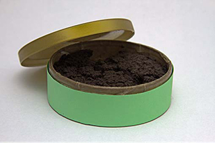 open can of smokeless tobacco