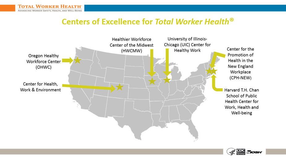 Centers of Excellence Map