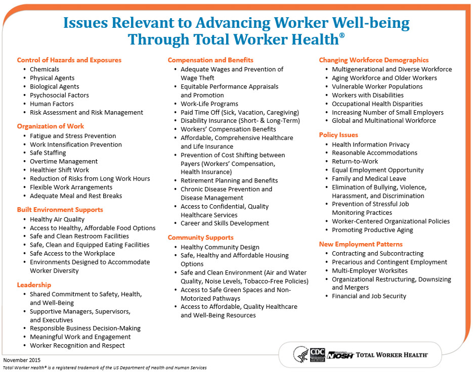CDC - What is Total Worker Health? - NIOSH Total Worker Health