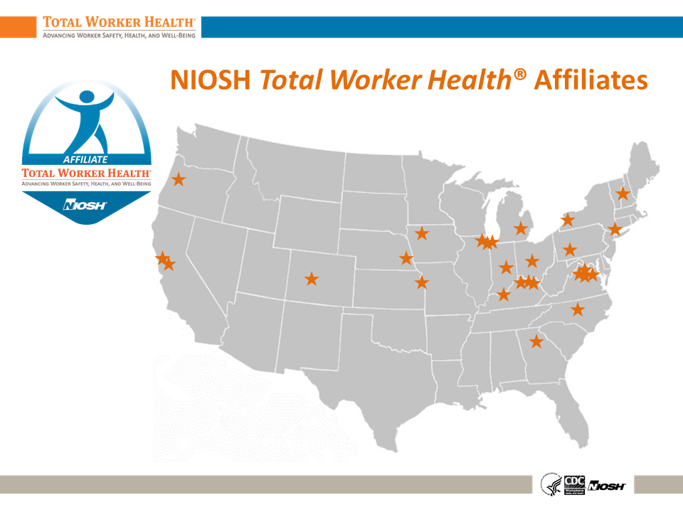 Map of Total Worker Health affliate sites