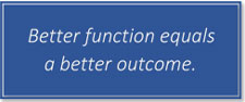 Better function equals a better outcome