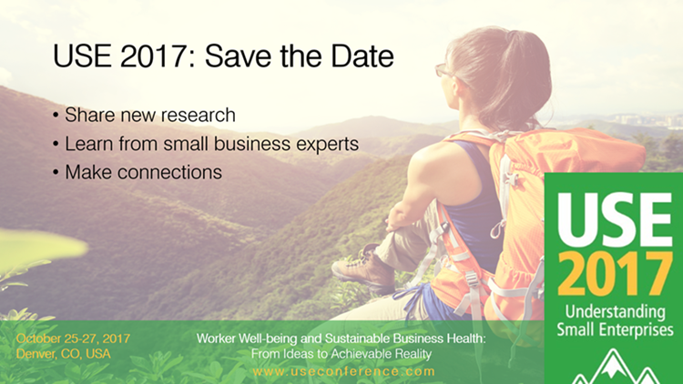 Save the Date graphic for Understanding Small Enterprises 2017