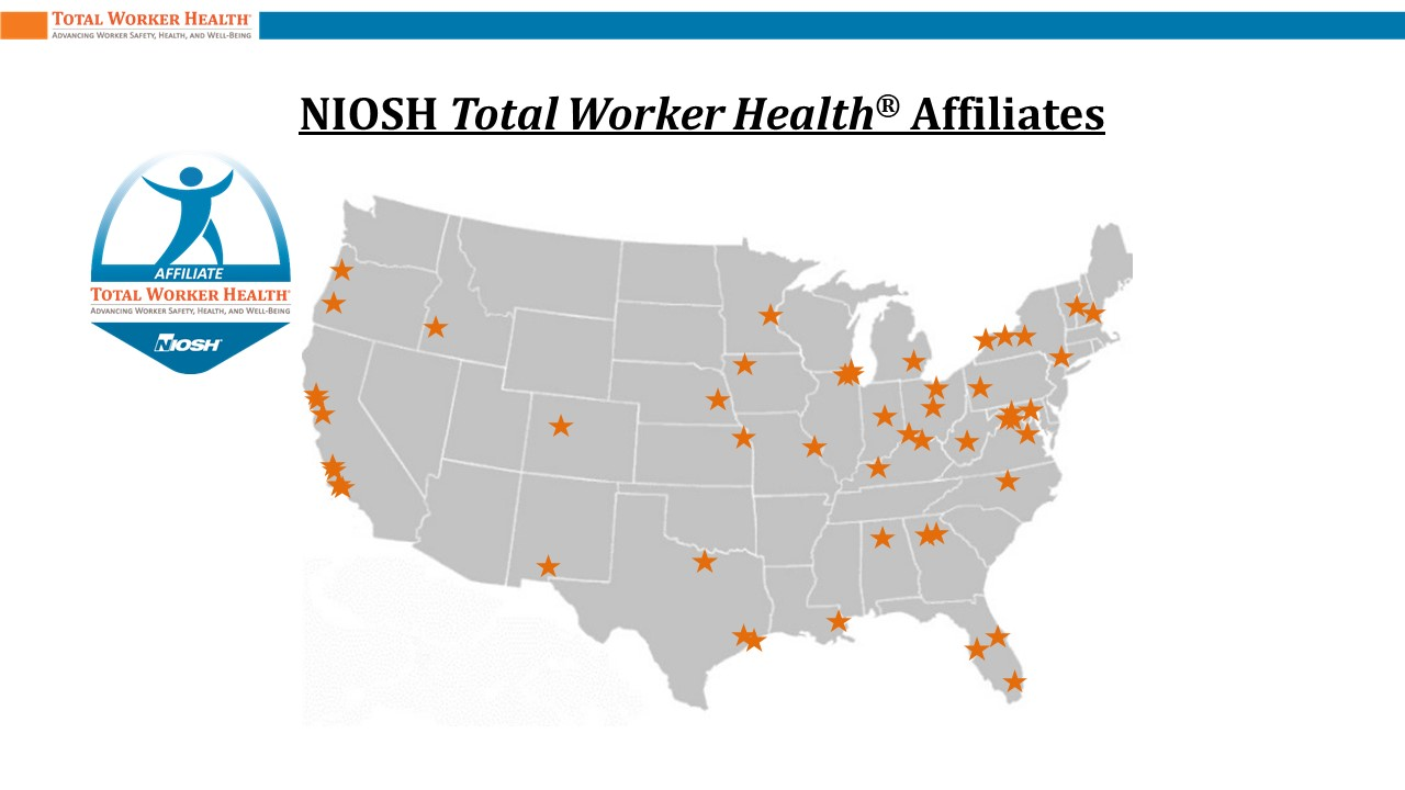 NIOSH TWH Affiliates location in the USA