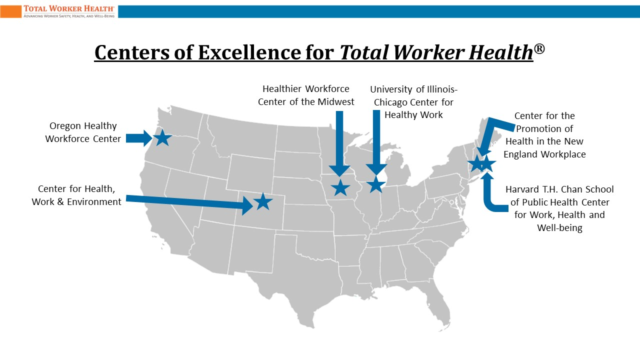 Centers of Excellence for TWH location in the USA Map