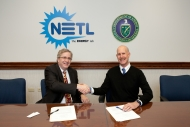 Dr. Anthony Cugini, NETL Director and Dr. John Howard, NIOSH Director