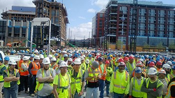 crowd of construction workers