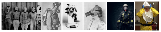 Respirators types over the years