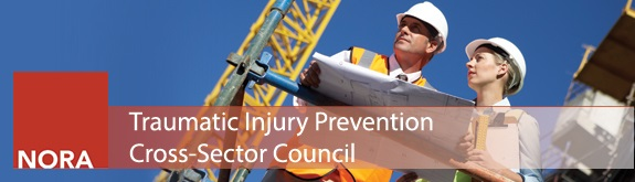 Banner image for Traumatic Injury Prevention, Man and woman looking at blueprints