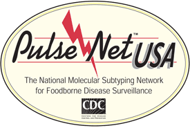 Pulse Net USA, The National Molecular Subtyping Network for Foodborne Disease Surveillance logo